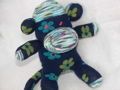 Sock Monkey Doll Plush Baby Rattle by AsYouWishCreations4u on Etsy, $15.00