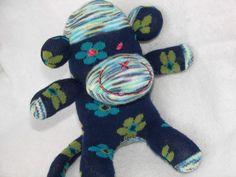 Sock Monkey Doll Plush Baby Rattle by AsYouWishCreations4u on Etsy, $15.00