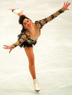 Kristi Yamaguchi - The 1992 Olympic Champion in ladies' skating, winner of other figure skating championships in singles and pairs, and she's been inducted into the US Olympic Hall of Fame.