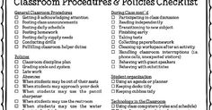Free checklist and tips for developing classroom procedures that build character in students