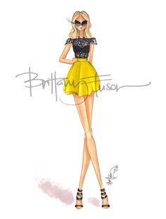 Brittany Fuson: Lacie Arte Fashion, Girl Fashion, Fashion Dresses, Ballet Fashion, Fashion Design Drawings, Fashion Sketches, Fashion Illustration Dresses, Fashion Illustrations, Illustration Mode