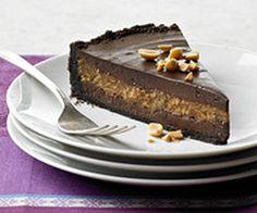 Choco-Creamcheesetaart met pindakaasvulling - Overig - Recepten - Koopmans.com