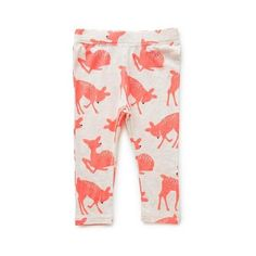Baby Clothes Pants & Shorts | Bg Deer Print Leggings | Seed Heritage (62 BRL) ❤ liked on Polyvore featuring baby, kids clothes, baby girl, girls and kids