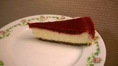 Part de cheesecake a la framboise