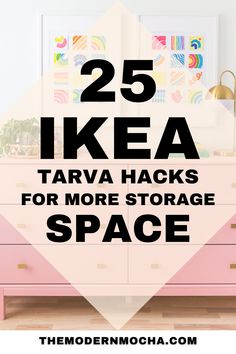 Here is the perfect IKEA TARVA dresser hack for any room. This post has the best IKEA TARVA hacks, both the nightstand and dresser, for your next DIY furniture makeover project. These IKEA furniture hacks are perfect for your bedroom, living room and kitchen. Save this for the best IKEA hacks and home décor ideas! #ikeahacks #tarva #ikeatarva #ikeadresser #ikeanightstand Ikea Furniture Hacks, Ikea Hacks, Furniture Makeover, Ikea Nightstand, Ikea Tarva Dresser, Best Ikea, Décor Ideas, Storage Spaces, Living Room