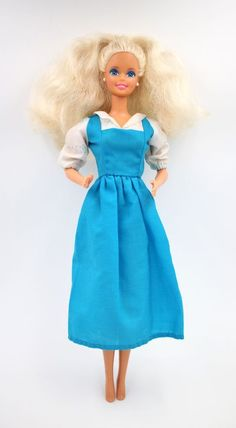 Vintage Mattel 1966 Twist & Turn Barbie Doll Platinum Blond Clothed Blond Hair #Mattel #DollswithClothingAccessories