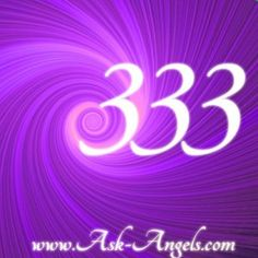 The angel number 333 is a reminder that the Divine, the angels, and the ascended masters are working with you on a number of levels. It's a reminder of the Divine nature of time and a signal that the entire universe is conspiring with you to accomplish your dreams and desires. So get clear about what you want, ask for help and take action to manifest your dreams and co-create a beautiful life experience<3 http://www.ask-angels.com/spiritual-guidance/angel-number-333/