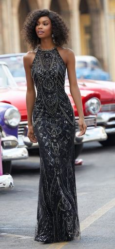 Black Mori Lee Prom Dress 2018