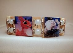 Hey, I found this really awesome Etsy listing at https://www.etsy.com/listing/198070587/rudolph-the-red-nosed-reindeer-bracelet
