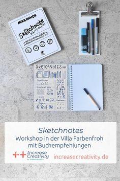 Sketchnotes – mein Workshop in Wiesbaden und Buchempfehlungen Handout, Sketch Note, Lettering, Workshop, Bullet Journal, Blog, Paper, Drawings Of People, Book Recommendations