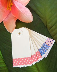 plain gift tags with washi tape