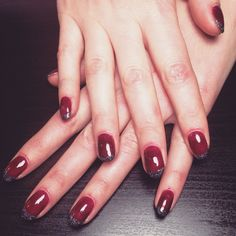 Plum shellac with dark silver French