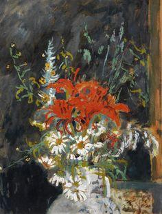 Filippo de Pisis - Flowers, 1939, oil on cardboard mounted on canvas, 69 x 53 cm