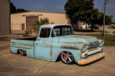 1959 Chevy Apache Fleetside - Big window rat rod truck, bagged, air ride, with awesome patina