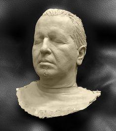 Body Castin Art, (Acrilic One) Portrait It Cast, Sculpture, Statue, Portrait, Art, Craft Art, Men Portrait, Kunst, Carving