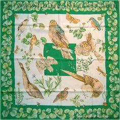 "Hermes Vintage Silk Carre Scarf ""La Vie au Grand Air"" by Antoine Jacquelot Silk Scarves, Hermes Scarves, Fashion Art, Vintage Fashion, Bandana Design, Ancient Beauty, Old T Shirts, Air, Cool Places To Visit"