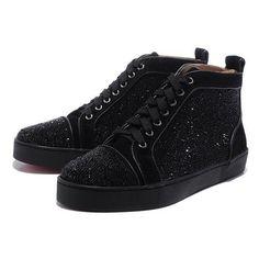 Chaussure Louboutin Pas Cher Homme Noir Strass #redbottoms