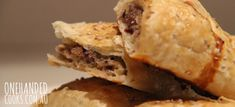Turkey and Cranberry Sausage Rolls - One Handed Cooks