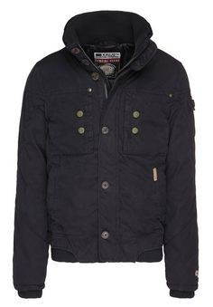 Petrol industries winterjacke black