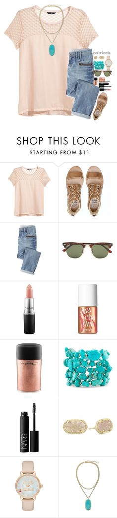"""•Rtd username change•"" by lmr14 ❤ liked on Polyvore featuring H&M, Billabong, Wrap, Ray-Ban, MAC Cosmetics, Benefit, Chico's, NARS Cosmetics, Kendra Scott and Kate Spade"