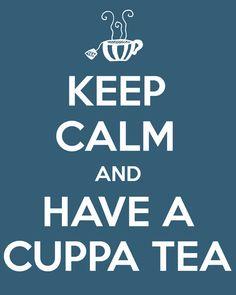 Keep Calm and have a Cuppa Tea Art Print