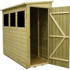 A storage shed is a light structure (generally made of wood) in a back garden used for storage of tools, vehicles, or useful items and is very often used to pursue hobbies like gardening and light engineering. Storage sheds are availa Outdoor Bike Storage, Backyard Storage, Buy Shed, Lean To Shed Plans, Small Shed Plans, Shed With Loft, Shiplap Cladding, Apex Roof, Shed Base