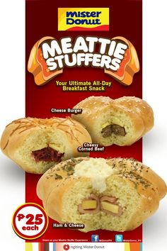 Mister Donut's MEATTIE STUFFERS Now Available For Only P25
