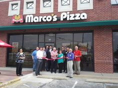 Congratulations to Phyllis and Kenny Kendrik - high school sweethearts turned entrepreneurs - on their ribbon cutting yesterday at Marco's Pizza.