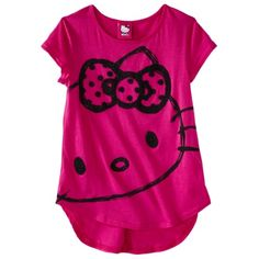 Hello Kitty Girls' Tee -  Fuchsia - $9.99 - use this for a PJ top in either M or L.