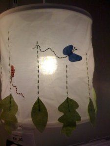 Rainforest Pattern Beautiful Embroidered Appliqué, Detailed, Kids Room Pendant Lamp by sweden. $29.99
