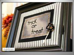 Crafts & Sutch: Trick or Treat Frame