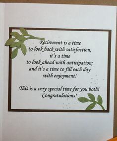 Poem is for that person who has worked hard to reach retirement greeting card sentiments greeting cards scrapbook layouts scrapbooking retirement cards card ideas gift ideas card sayings handmade christmas cards m4hsunfo