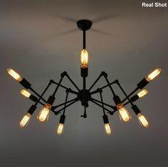 industriële retro loft kristallen hanglampen slaapkamer lampen e27, Deco ideeën