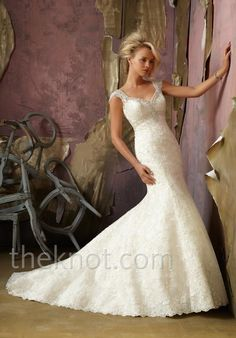 Check out this #weddingdress: 1854 by Mori Lee by Madeline Gardner via iPhone #TheKnotLB from #TheKnot