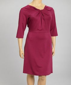 Take a look at this Fandango Knot Dress - Plus by Danny & Nicole on #zulily today!