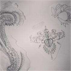 Designs by Gianna Galli for her survivor at #pinktattooday NYC. @giatattoos @personalink #breastcancer #mastectomy #tattoo