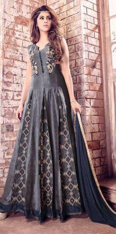 Black Designer Anarkali Suit For Wedding Wear