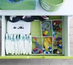 10 Ways To Quickly Get Organized With Baby   Diaper Drawer