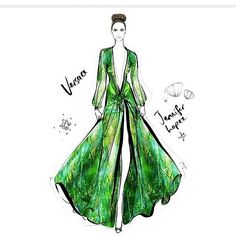 Remember this dress? It's the sheer tropical plunging Versace dress that Jennifer Lopez wore to the Grammys in 2000 - at the time, everyone was shocked by how revealing it was but we had no idea what was yet to come with Miley Cyrus!!!! Illustration taken from my book: THE DRESS