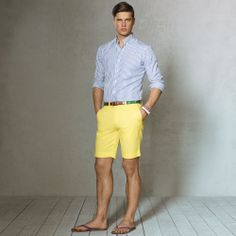 Shop Clothing for Men, Women, Children & Babies Preppy Outfits, Classic Outfits, Preppy Style, Short Outfits, Cool Outfits, Mode Masculine, Yellow Shorts Outfit, Preppy Mens Fashion, Barefoot Men