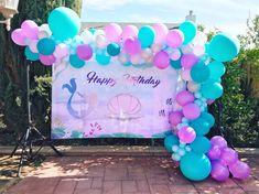 Balloon | Balloon Garland | Mermaid | Under The Sea | Decor | Party | Birthday | Girl's Birthday | Blue | Purple