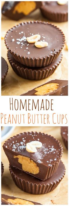 Five-ingredient peanut butter cups from Baker by Nature ~ http://bakerbynature.com/5-ingredient-peanut-butter-cups/