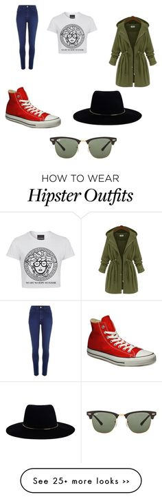 """""""Everyday Hipster Look"""" by mariatriplett on Polyvore featuring River Island, Converse, Zimmermann and Ray-Ban"""