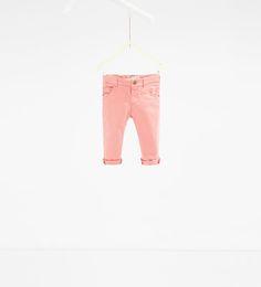 Imagem 1 de Calça de sarja de cor da Zara