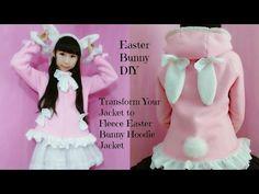 Easter Bunny DIY –Transform Your Hoodie Jacket to Fleece Easter Bunny Hoodie Jacket (Easy) - YouTube