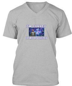 Jim Carrey Cosmic Apotheosis Athletic Heather T-Shirt Front