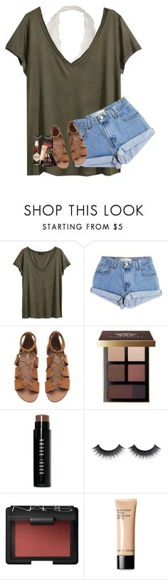 """i want an adventure☄"" by lindsaygreys ❤ liked on Polyvore featuring H&M, Levi's, Bobbi Brown Cosmetics and NARS Cosmetics"