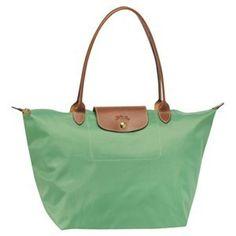 11c4bb51cf Longchamp Le Pliage Large Tote Green Bags