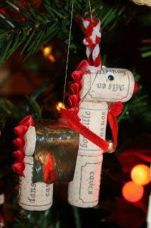 Christmas Archives: Cork Reindeer Ornament