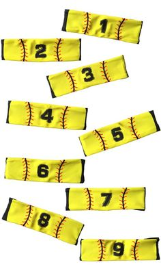 MadSportsStuff Player ID Jersey Number Softball Stitch Headbands! Great team gift...